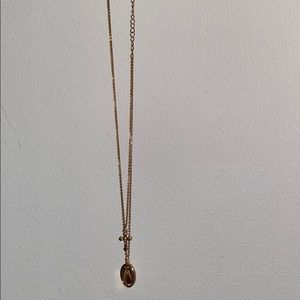 Mary and cross necklace